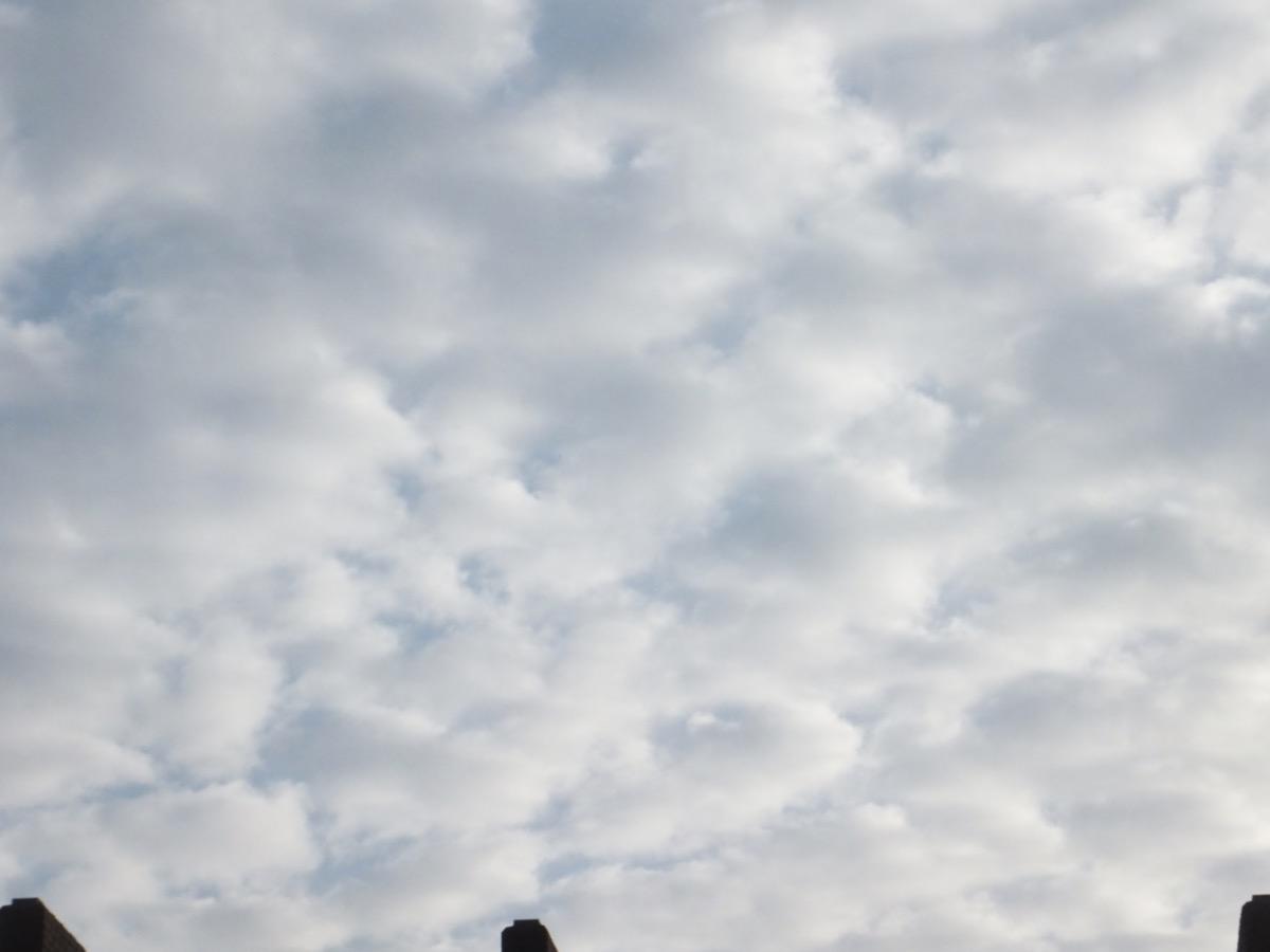Schäfchen-Wolken vor bläulichem Himmel